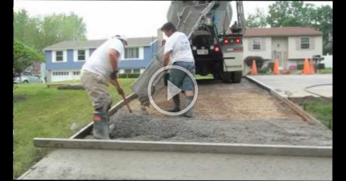 How to pour a concrete driveway wbmvideo 2406085113 for How to pour a concrete driveway