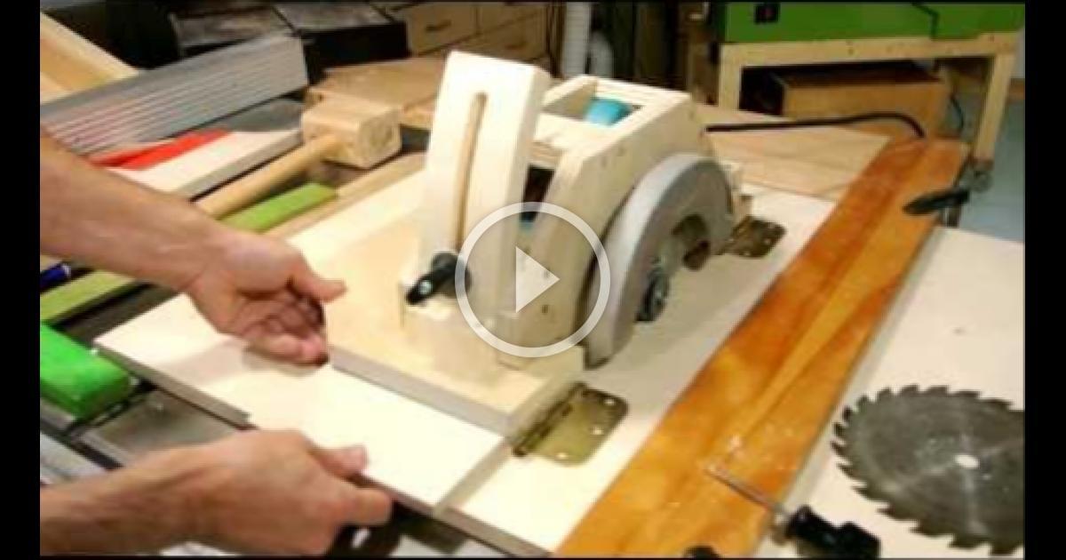 Как сделать станок из циркулярной пилы